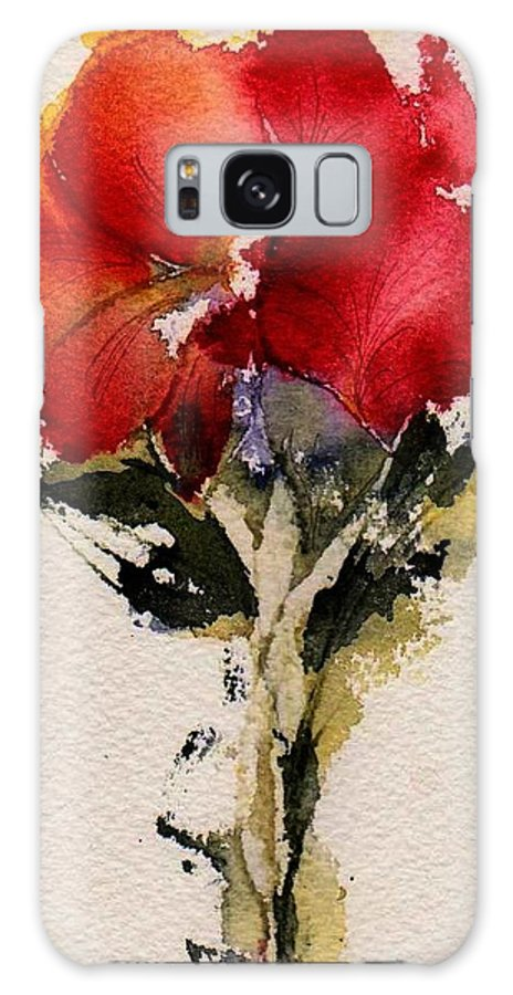 Flower Galaxy S8 Case featuring the painting Just Bloomed by Anne Duke