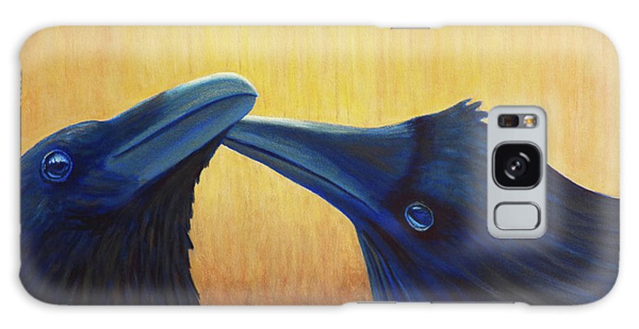 Ravens Galaxy Case featuring the painting K And B by Brian Commerford
