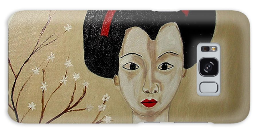 Japanese Galaxy S8 Case featuring the painting Kabuki Girl by Rusty Gladdish