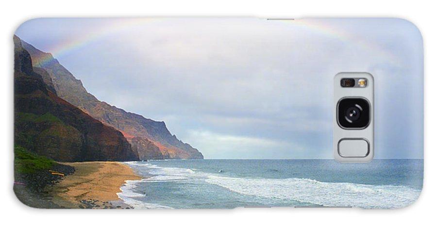 Rainbow Galaxy S8 Case featuring the photograph Kalalau Beach Rainbow by Kevin Smith