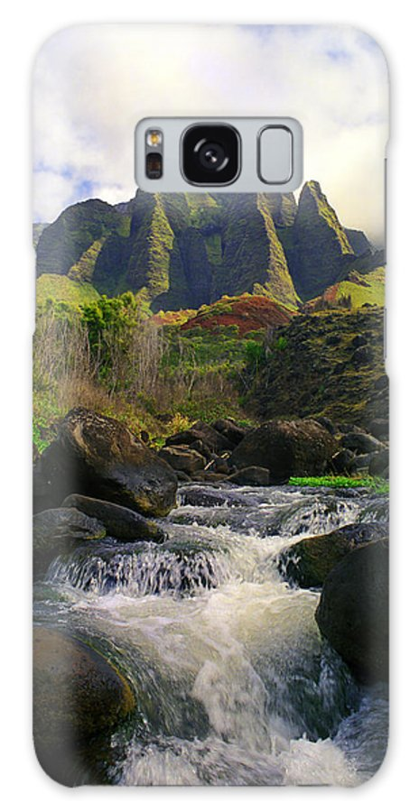 Hawaii Galaxy S8 Case featuring the photograph Kalalau Cathedral by Kevin Smith