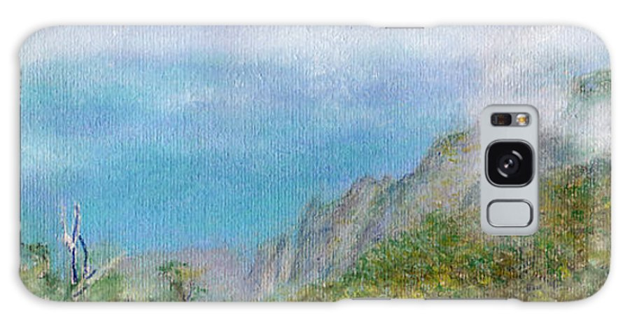 Rainbow Colors Pastel Galaxy S8 Case featuring the painting Kalalau Mist by Kenneth Grzesik