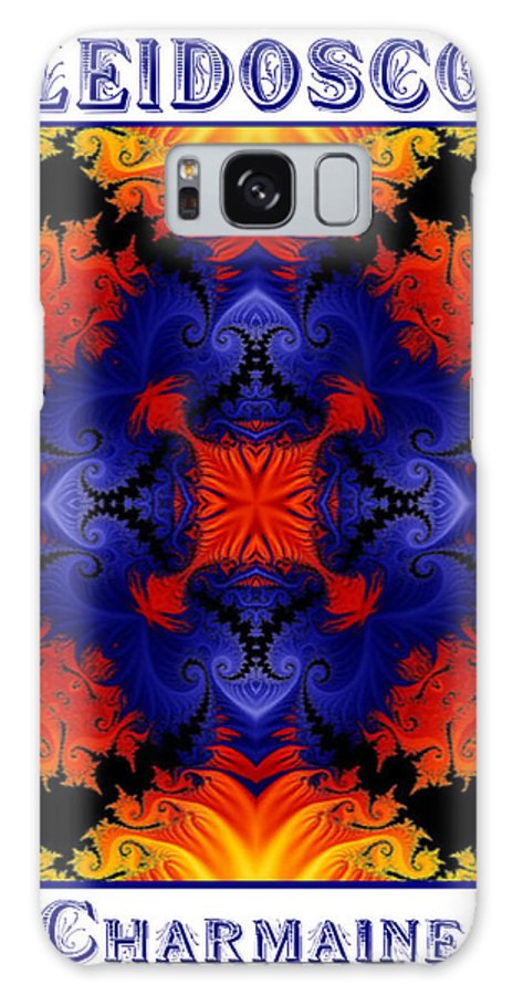 Kaleidoscope Galaxy Case featuring the digital art Kaleidoscope 1 by Charmaine Zoe