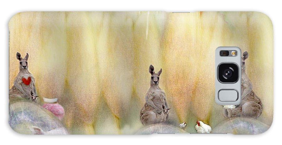 Kangaroo Galaxy S8 Case featuring the photograph Kanga by Karen Divine