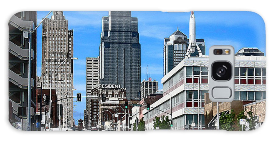 City Scape Galaxy S8 Case featuring the photograph Kansas City Cross Roads by Steve Karol
