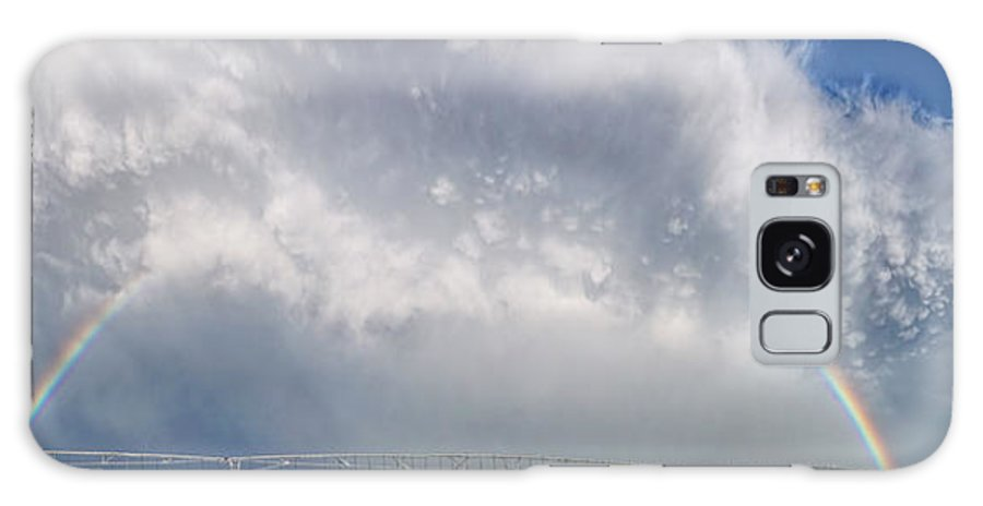 Rainbow Galaxy S8 Case featuring the photograph Kansas Double Rainbow by Alan Hutchins