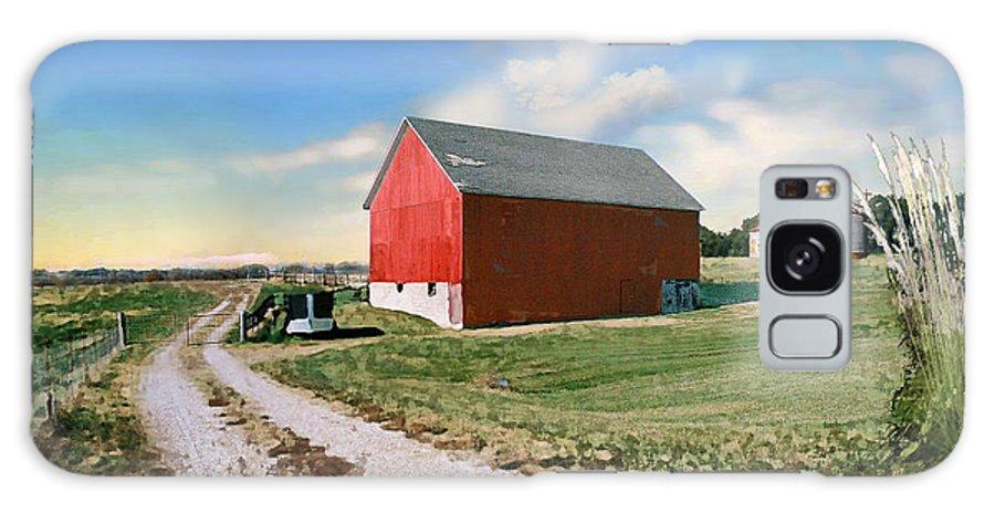 Barn Galaxy Case featuring the photograph Kansas Landscape II by Steve Karol