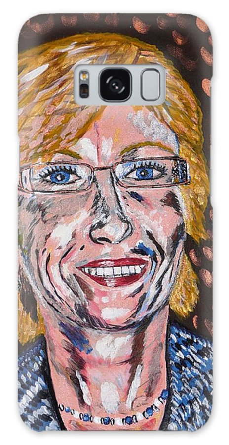 Portrait Galaxy Case featuring the painting Karin by Valerie Ornstein