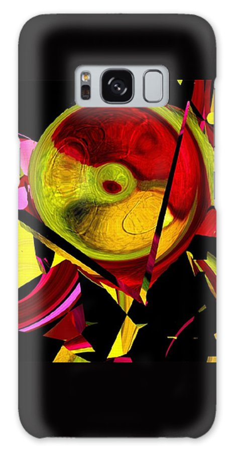 Abstract Galaxy S8 Case featuring the painting Karma Wheel by RC DeWinter