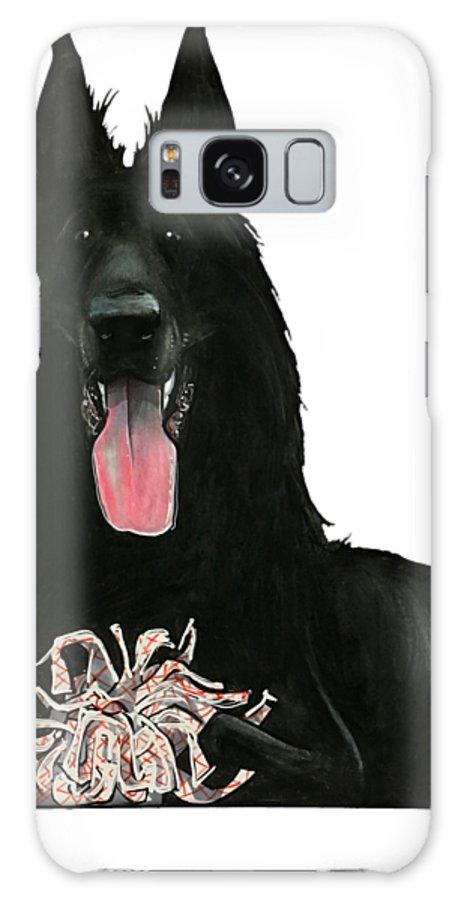 Pet Portrait Galaxy S8 Case featuring the drawing Kasper 3396 by John LaFree