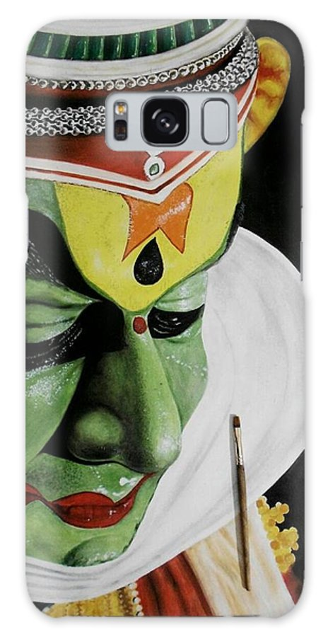 Acrylic And Pastel On Paper Galaxy S8 Case featuring the painting kATHAKALI PAINTING REALISTIC by Sanooj Kakkayangad
