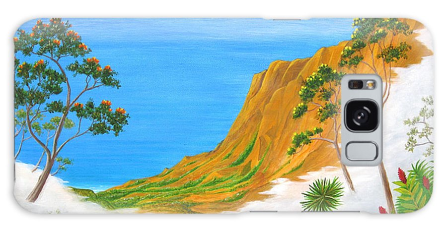 Landscape Galaxy S8 Case featuring the painting Kauai Hawaii by Jerome Stumphauzer