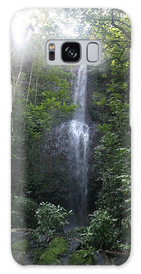 Hawaii Galaxy S8 Case featuring the photograph Kauai Waterfall by Diane Merkle