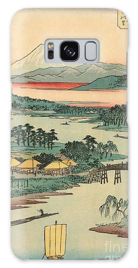 Kawasaki Galaxy S8 Case featuring the painting Kawasaki by Utagawa Hiroshige