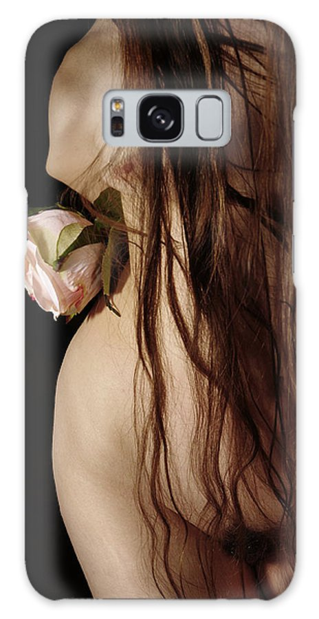 Female Nude Abstract Mirrors Flowers Galaxy Case featuring the photograph Kazi0802 by Henry Butz