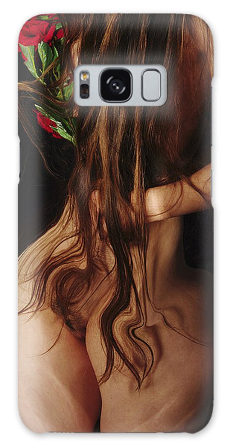 Female Nude Abstract Mirrors Flowers Galaxy Case featuring the photograph Kazi1185 by Henry Butz