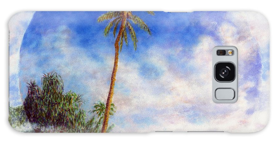 Rainbow Colors Pastel Galaxy Case featuring the painting Ke'e Palm by Kenneth Grzesik
