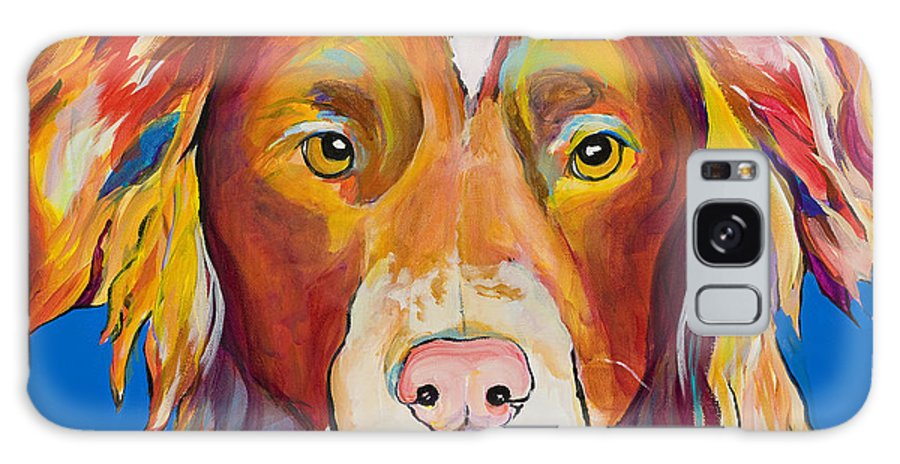 Australian Border Collie Galaxy Case featuring the painting Keef by Pat Saunders-White