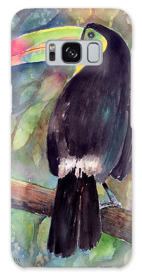 Bird Galaxy S8 Case featuring the painting Keel-billed Toucan by Arline Wagner
