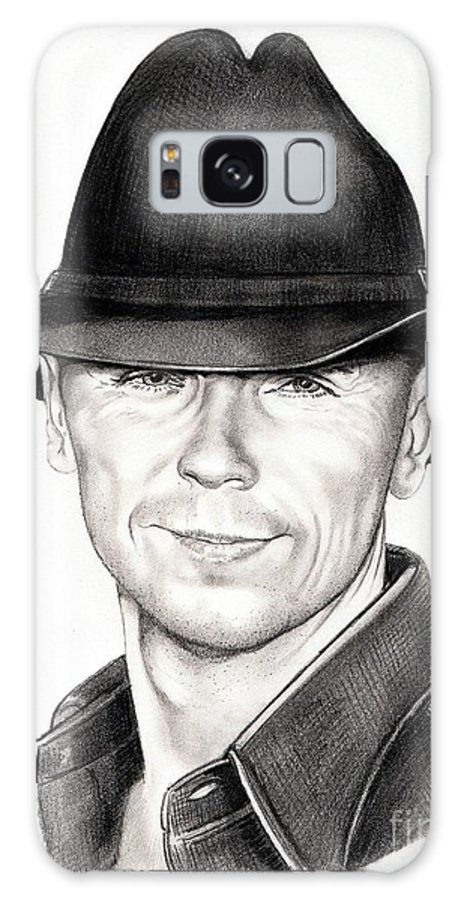 Portrait Galaxy S8 Case featuring the drawing Kenny Chesney by Murphy Elliott