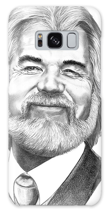 Music Galaxy S8 Case featuring the drawing Kenny Rogers by Murphy Elliott