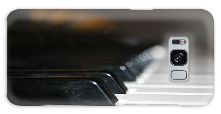 Piano Photograph Galaxy S8 Case featuring the photograph Keys Close-up by Linda Sannuti