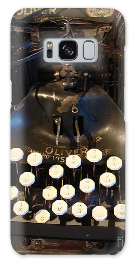 Typewriter Galaxy S8 Case featuring the photograph Keys Of Time by Shelley Jones