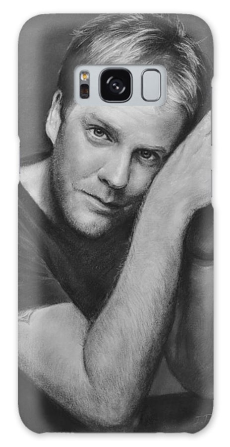 Portraits Galaxy Case featuring the drawing Kiefer Sutherland by Iliyan Bozhanov