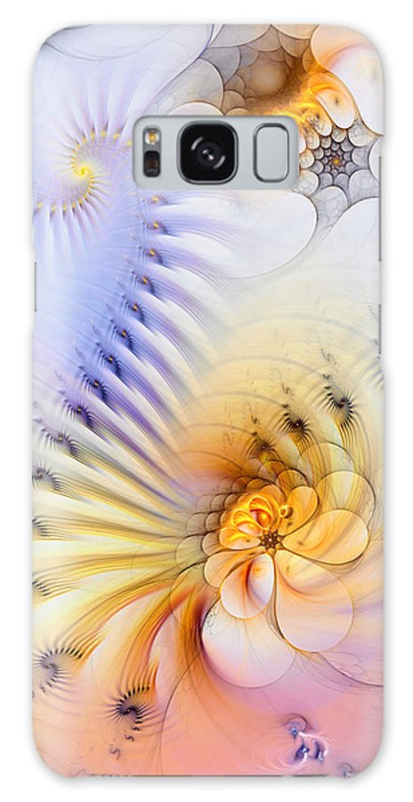 Abstract Galaxy S8 Case featuring the digital art Kinetic Pantomime by Casey Kotas