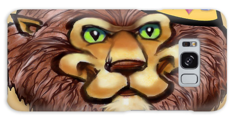 Lion Galaxy S8 Case featuring the digital art King by Kevin Middleton