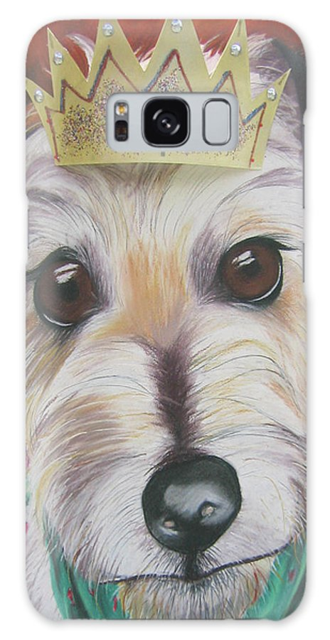 Dog Galaxy S8 Case featuring the pastel King Louie by Michelle Hayden-Marsan