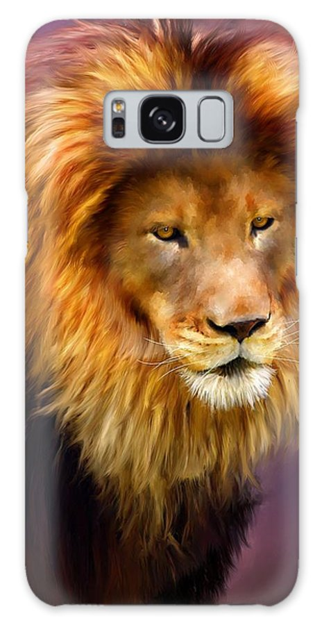 Pet Portraits Galaxy S8 Case featuring the painting King by Michael Greenaway