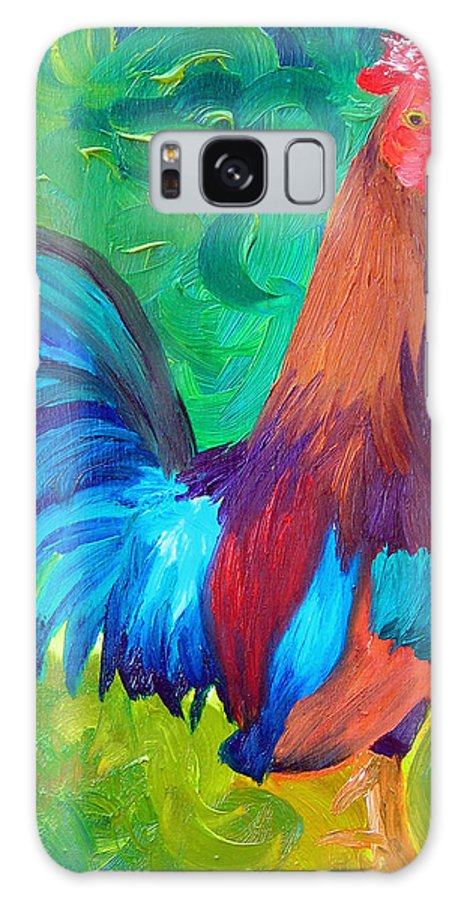 Rooster Galaxy Case featuring the painting King Of The Barn by Michael Lee