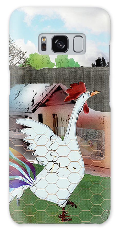 Rooster Galaxy S8 Case featuring the digital art King Of The Hen House by Arline Wagner