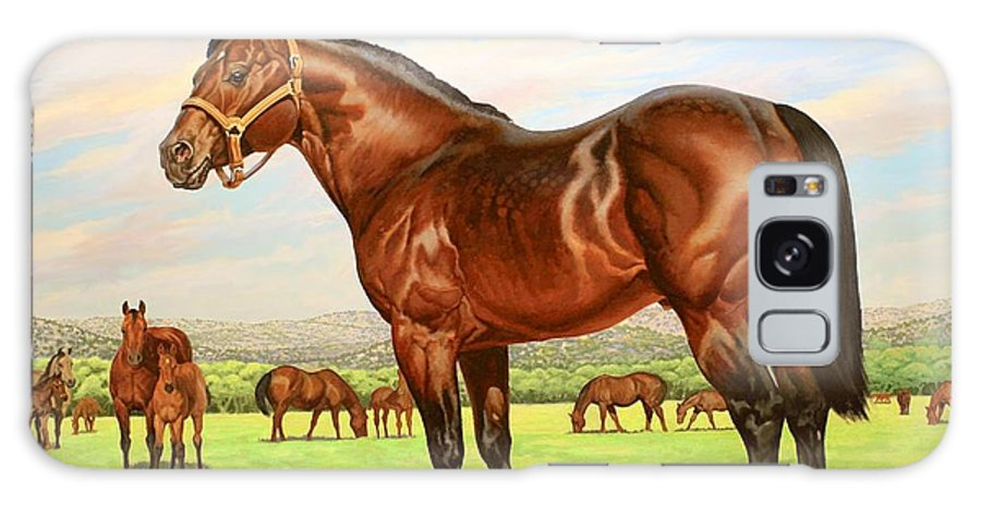 Quarter Horse Galaxy S8 Case featuring the painting King P-234 No.two by Howard Dubois