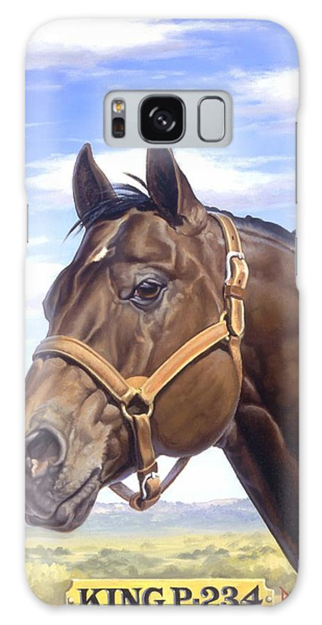 Quarter Horse Galaxy S8 Case featuring the painting King P234 by Howard Dubois