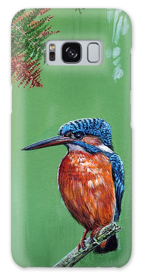 Kingfisher Galaxy S8 Case featuring the painting Kingfisher by Arie Van der Wijst