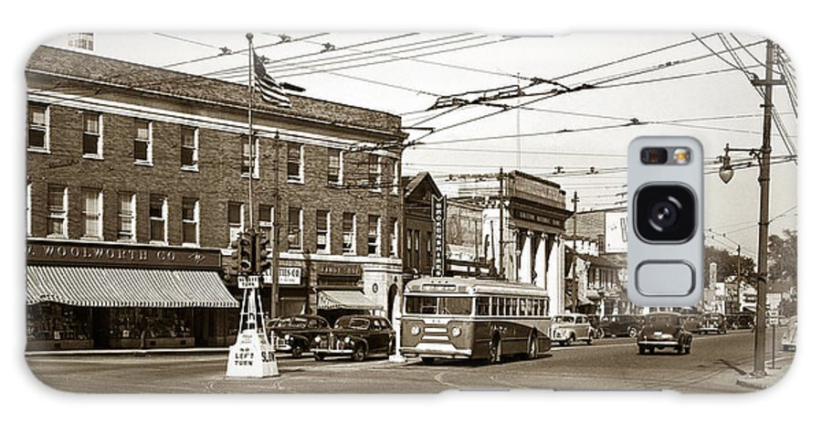 Kingston Corners Galaxy S8 Case featuring the photograph Kingston Corners Kingston Pa Early 1950s by Arthur Miller