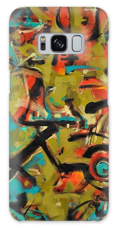 Abstract Expressionist Galaxy S8 Case featuring the painting Kinship by Ric Castro