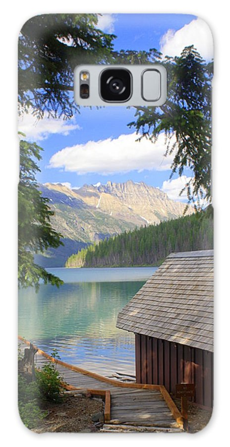 Glacier National Park Galaxy S8 Case featuring the photograph Kintla Lake Ranger Station Glacier National Park by Marty Koch