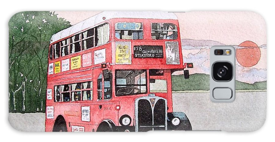 Bus Galaxy Case featuring the painting Kirkland Bus by Gale Cochran-Smith