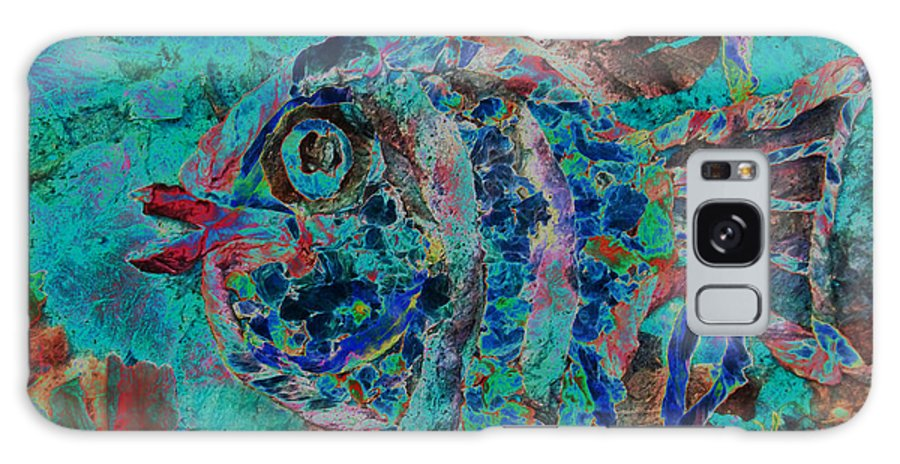 Fish Galaxy Case featuring the mixed media Kiss Me by Sue Duda