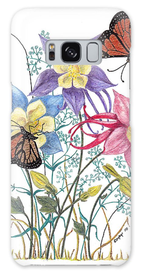 Monarch Butterflies Galaxy S8 Case featuring the painting Kiss The Sun by Stanza Widen