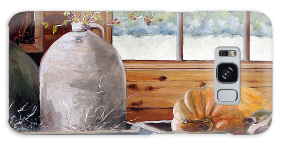 Kitchen Galaxy S8 Case featuring the painting Kitchen Scene by Richard T Pranke