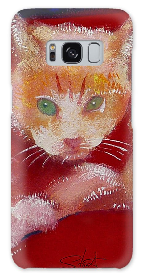 Kittens Galaxy S8 Case featuring the painting Kitten by Charles Stuart
