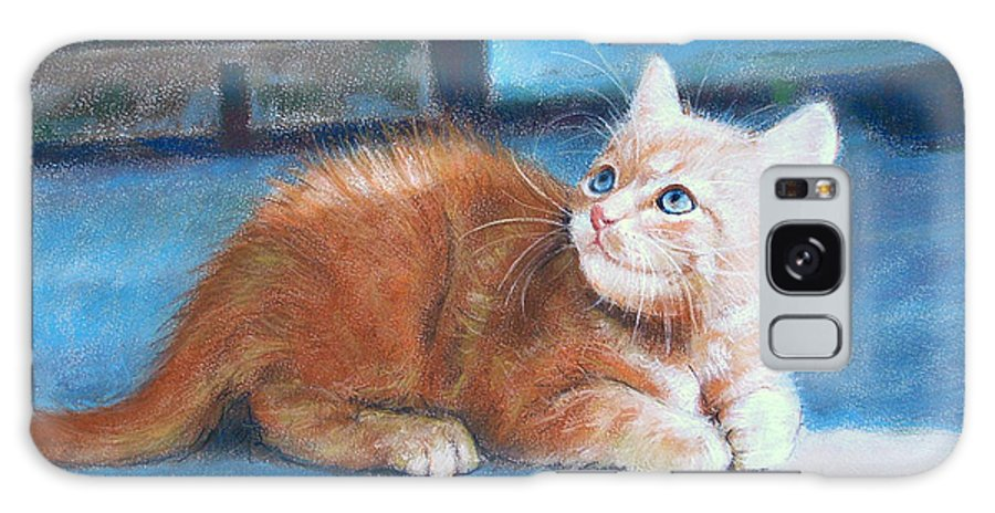 Cats Galaxy Case featuring the painting Kitten by Iliyan Bozhanov