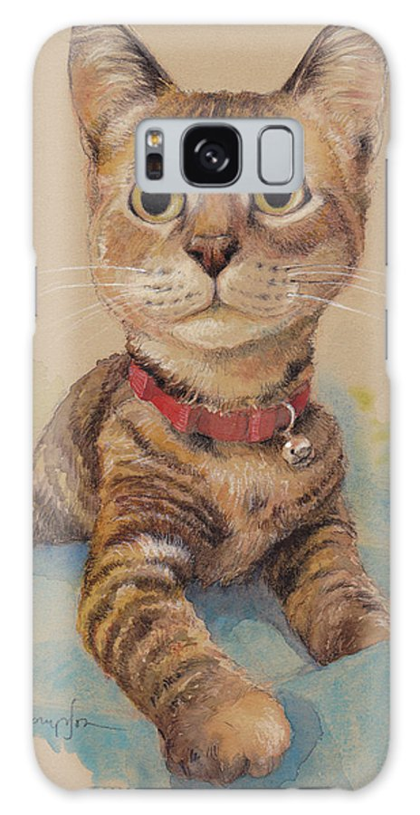 Cat Galaxy S8 Case featuring the painting Kitten On The Loose by Tracie Thompson