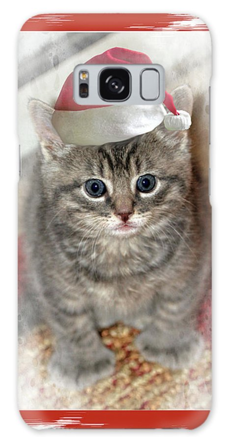 Recent Galaxy S8 Case featuring the photograph Kitten Playing Santa by Geraldine Scull