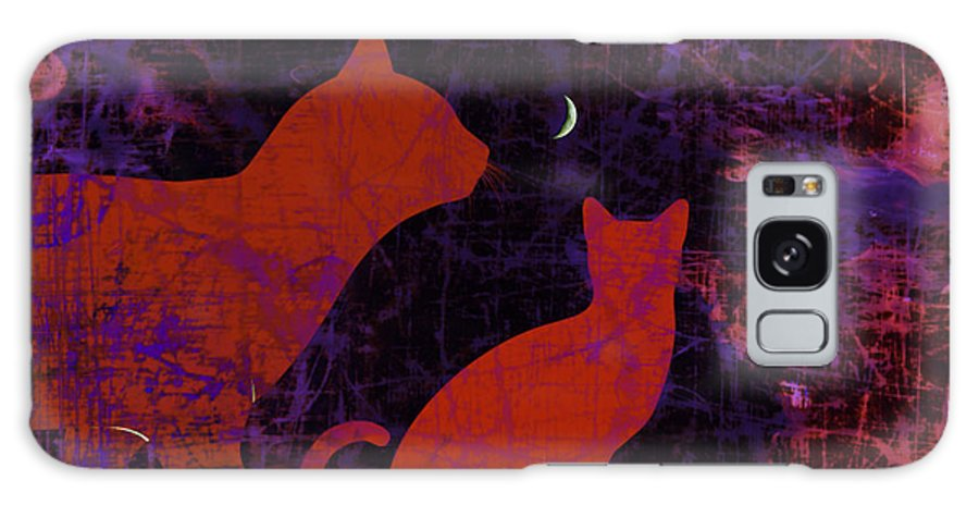 Kitty Kitty Galaxy S8 Case featuring the digital art Kitty Kitty by Darin Baker