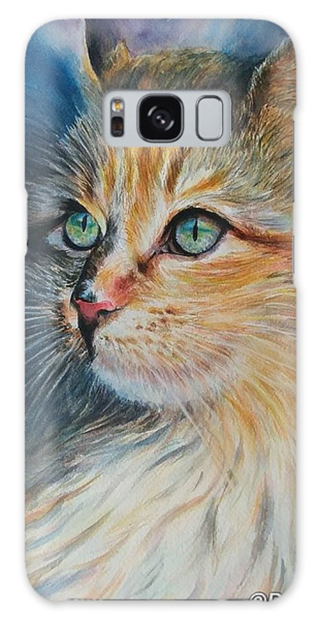 Animals Galaxy S8 Case featuring the painting Kitty by Renee Roig